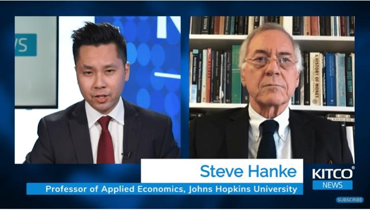 Giáo sư kinh tế Steve Hanke khẳng định không có 'siêu lạm phát'; các nhà đầu tư vàng cần hiểu điều này